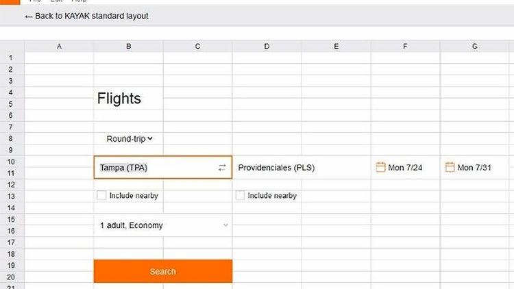 Plan a Getaway at Work With Kayak's Spreadsheet Decoy