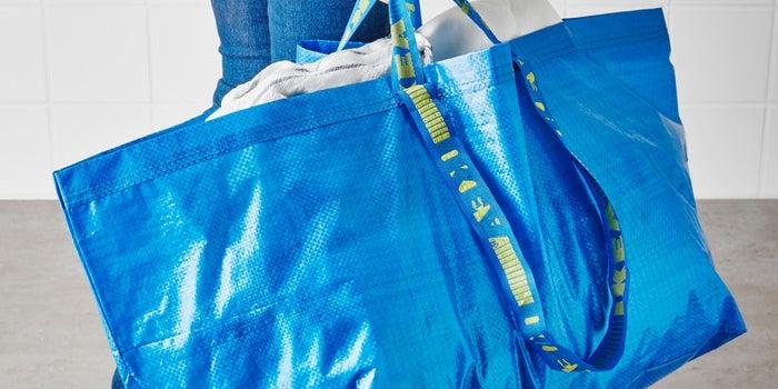 This New $2,145 Handbag Looks Oddly Similar to Ikea's 99 Cent Shopping Bag