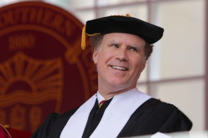 Watch Will Ferrell Joke, Sing and Inspire During His 2017 Commencement Speech