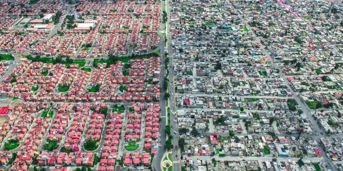 Así se ve la desigualdad social desde el aire
