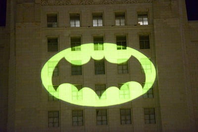 Holy Tribute, Batman! Watch the Bat-Signal Go Up Over Los Angeles In H...