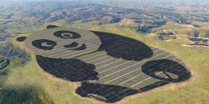 Así se ve la nueva mega planta solar de China