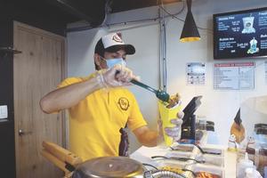La pareja del waffle innovador