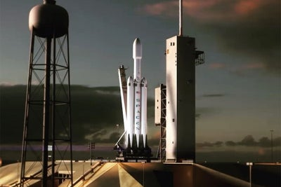 Watch How Elon Musk Hopes the SpaceX Falcon Heavy Will Launch