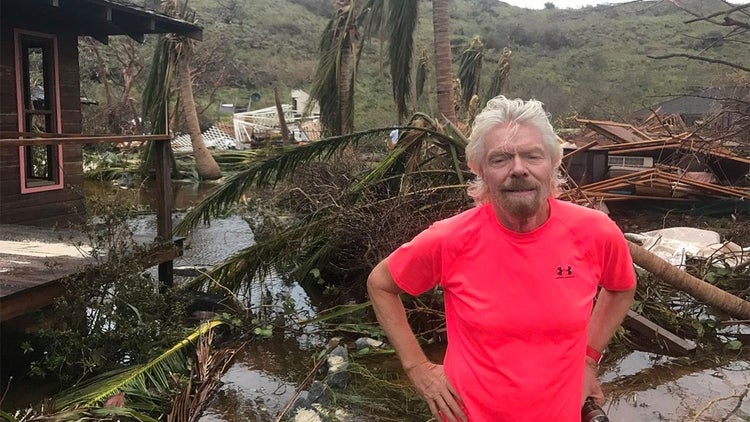 Here's How Richard Branson Survived Hurricane Irma and How He's Helping Others