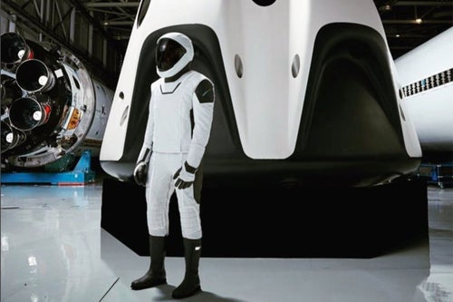 Elon Musk Reveals a Full View of the Sleek New SpaceX Spacesuit