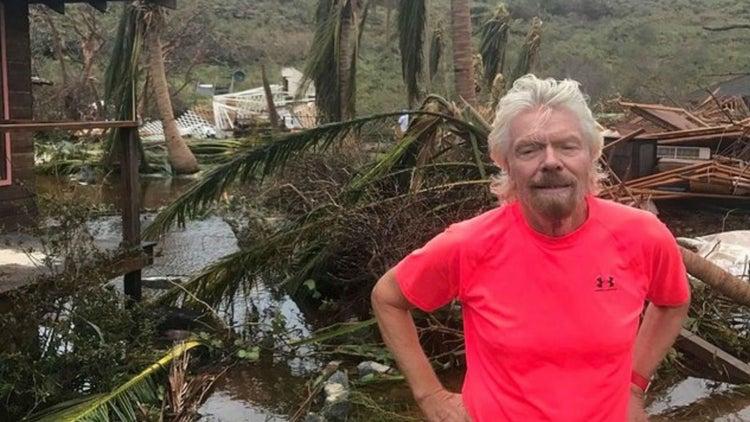 Así es como Richard Branson sobrevivió al huracán Irma y ayuda a los otros