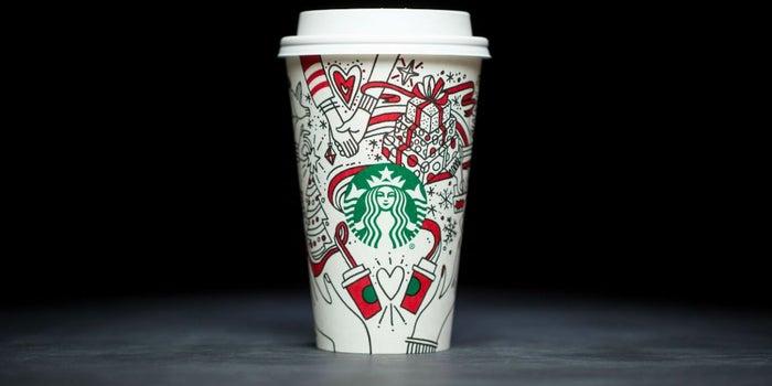 Starbucks inicia la temporada navideña con un 'vaso para colorear'
