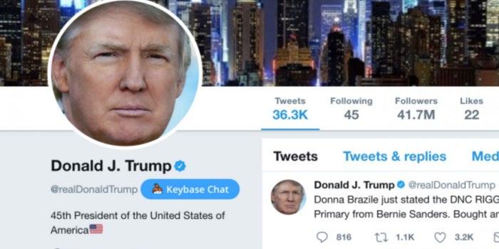 Empleado de Twitter desactiva la cuenta de Trump en su último día