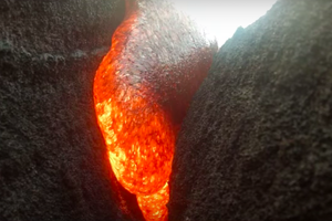 GoPro Accidentally Left In Path of Lava and Incredible Footage Survives