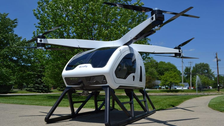 Humans Can Fly in This Drone-Like Electric Hybrid 'Octocopter'