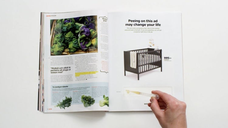Ikea Is Asking Women to Pee on This Ad, and We've Got Questions
