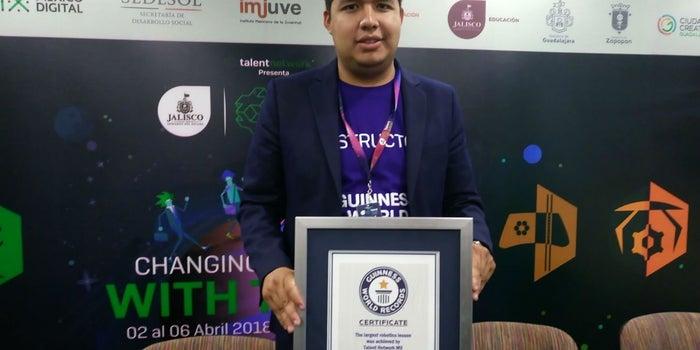 México rompe Récord Guinness de la clase de robótica más grande en Talent Land