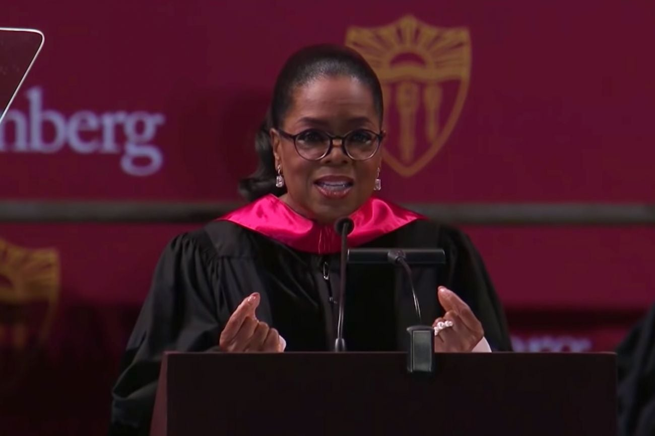 oprah winfrey speech To write a personal letter to oprah winfrey, watch her shows and understand her theme for that year, relate your idea to the specific topics covered by the oprah winfrey show, and select the method you prefer to send the personal letter it is possible to write a personal letter to oprah winfrey and .