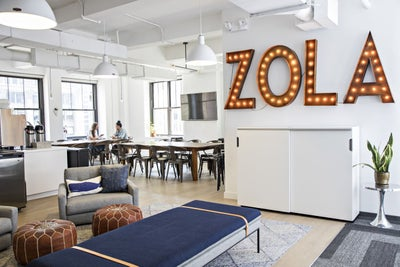 Here's How the Office Space for Wedding-Registry Company Zola Keeps It...