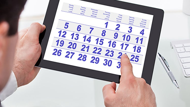 Agenda de eventos de enero