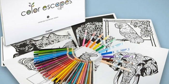 Crayola lanza libros para colorear para adultos
