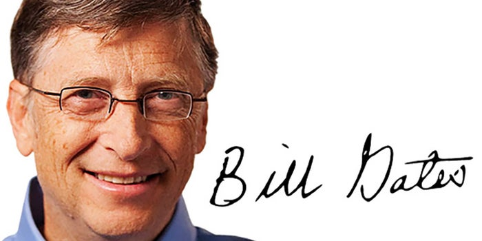 ¿Qué dice la firma de Bill Gates?