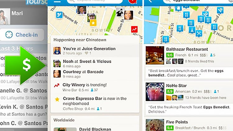 Foursquare Gets a Big Financial Lifeline and Revamps Its App