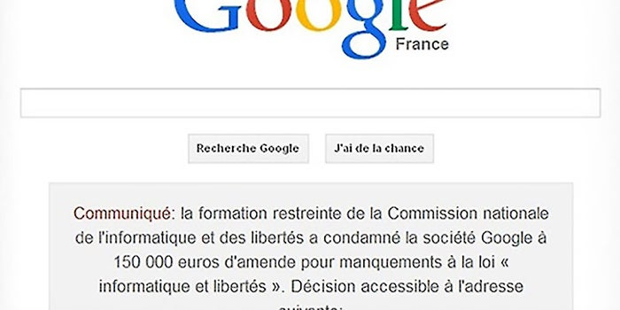 French Courts Force Google to Air Indiscretion on Homepage