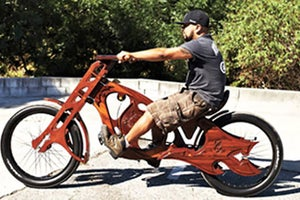 Two Entrepreneurs Find Niche in Custom Wooden Bicycles