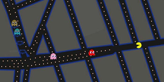 Google lleva a Pac-Man a sus mapas