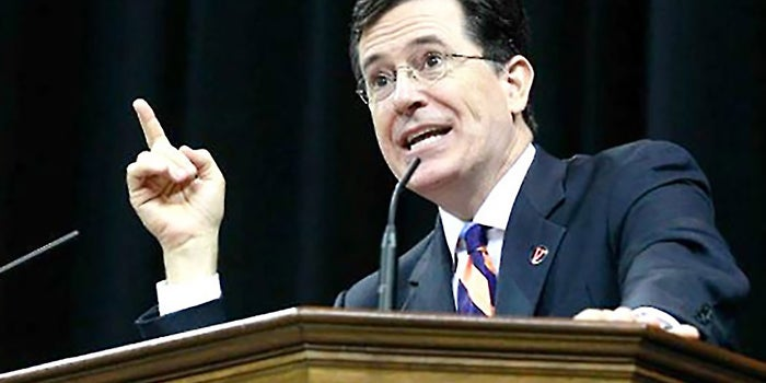 stephen colbert college essay As america's most fearless purveyor of truthiness, stephen colbert shines a light on ego-driven punditry, moral hypocrisy and government incompetence, raising the bar for political satire.