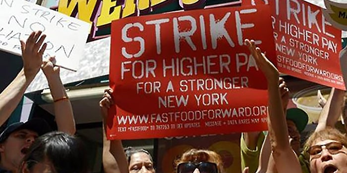 Thousands of Fast-Food Workers Strike to Raise Wages