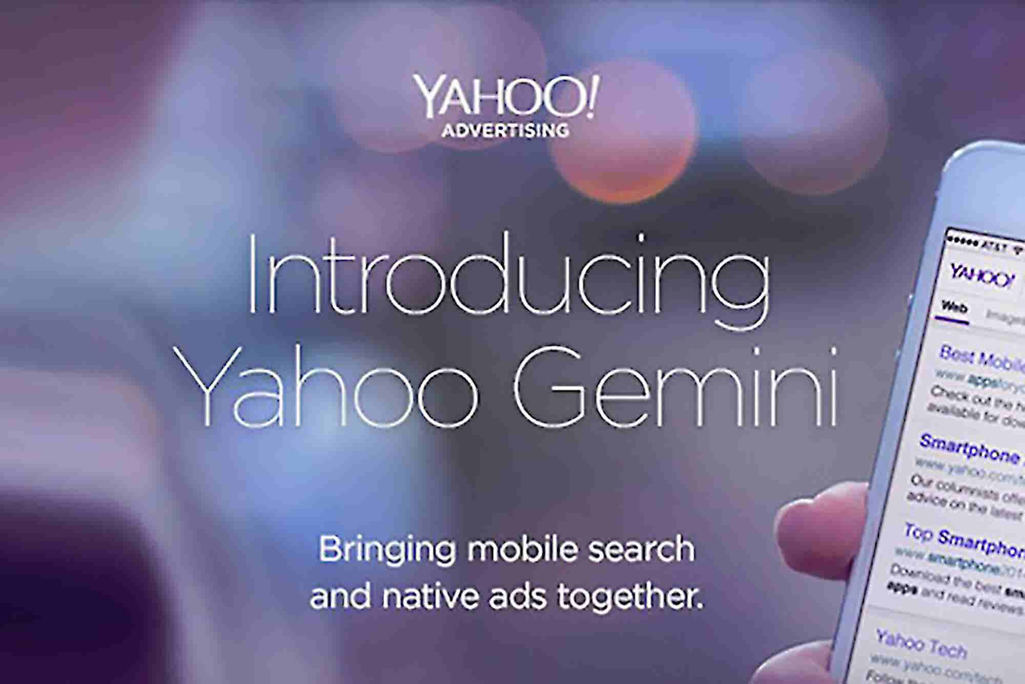 Yahoo's New 'Gemini' Tool Ties Mobile Ads and Native Search Together