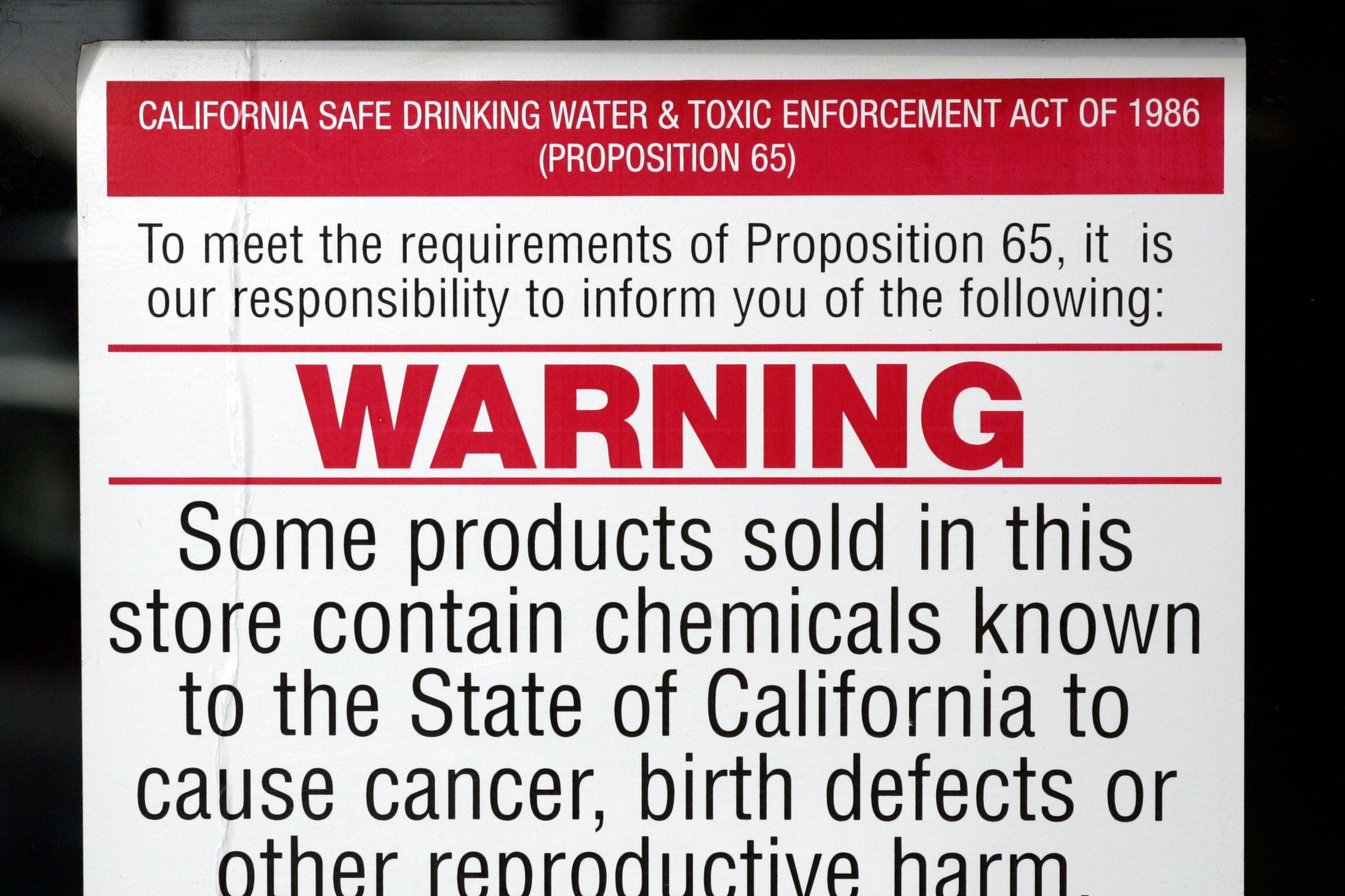 1986 California Proposition 65