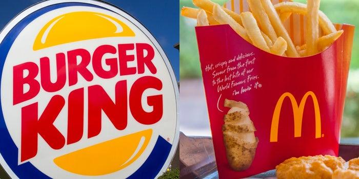 Burger King 'se burla' de McDonald's y responde a sus clientes ignorados
