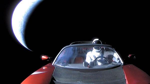 Elon Musk S Tesla Roadster Has A Close Encounter With Mars