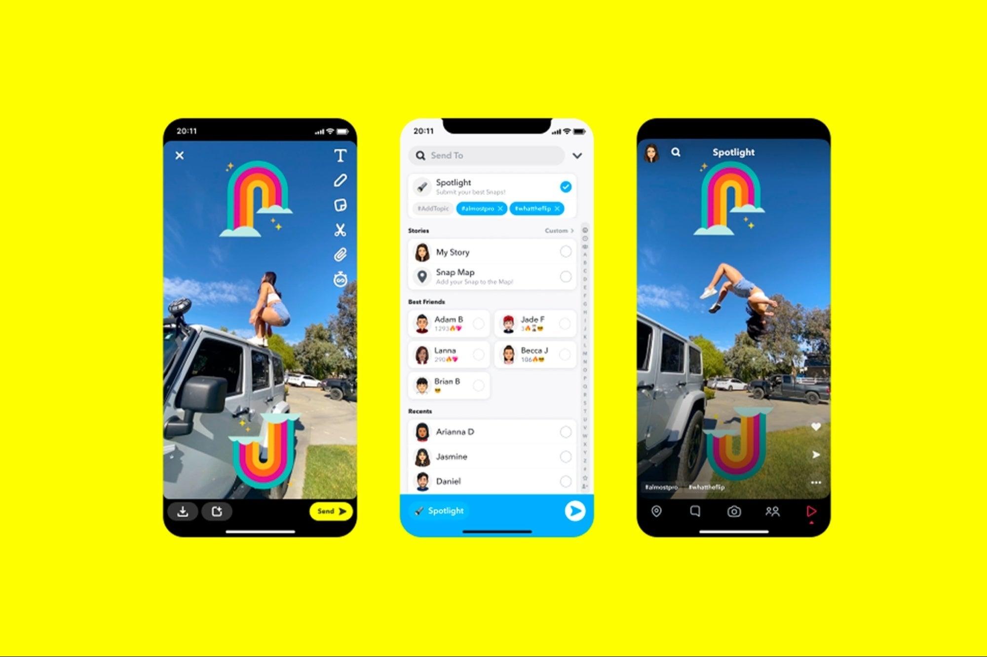 Snapchat launches Spotlight, rival TikTok
