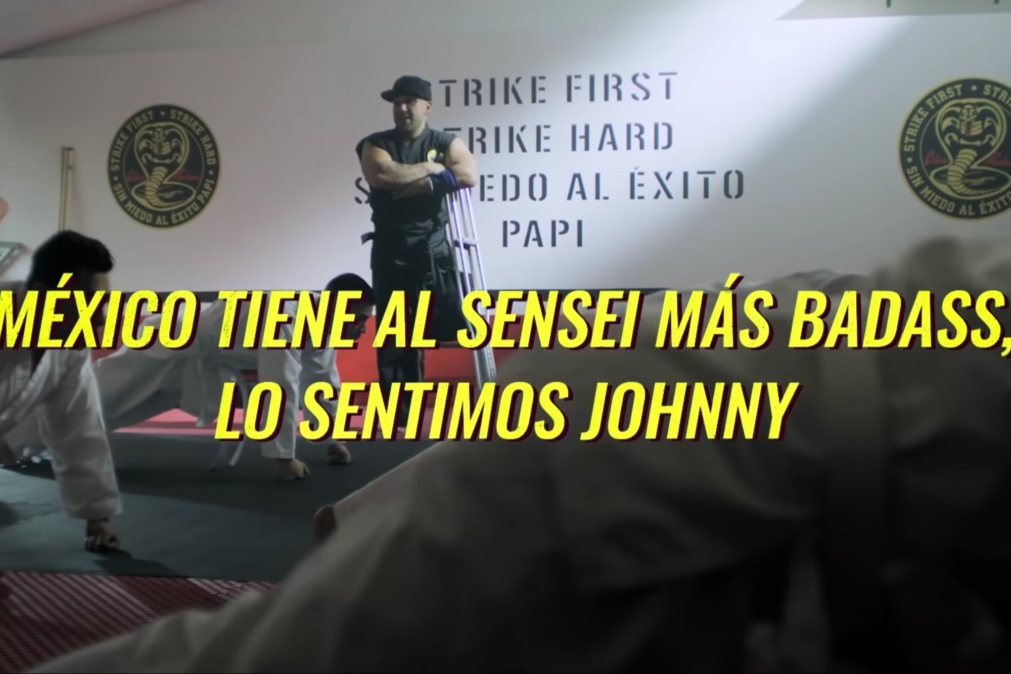 , VIDEO: Strike first, daddy! Las Barras Praderas 'train' at Mexico's Cobra Kai dojo, Saubio Making Wealth
