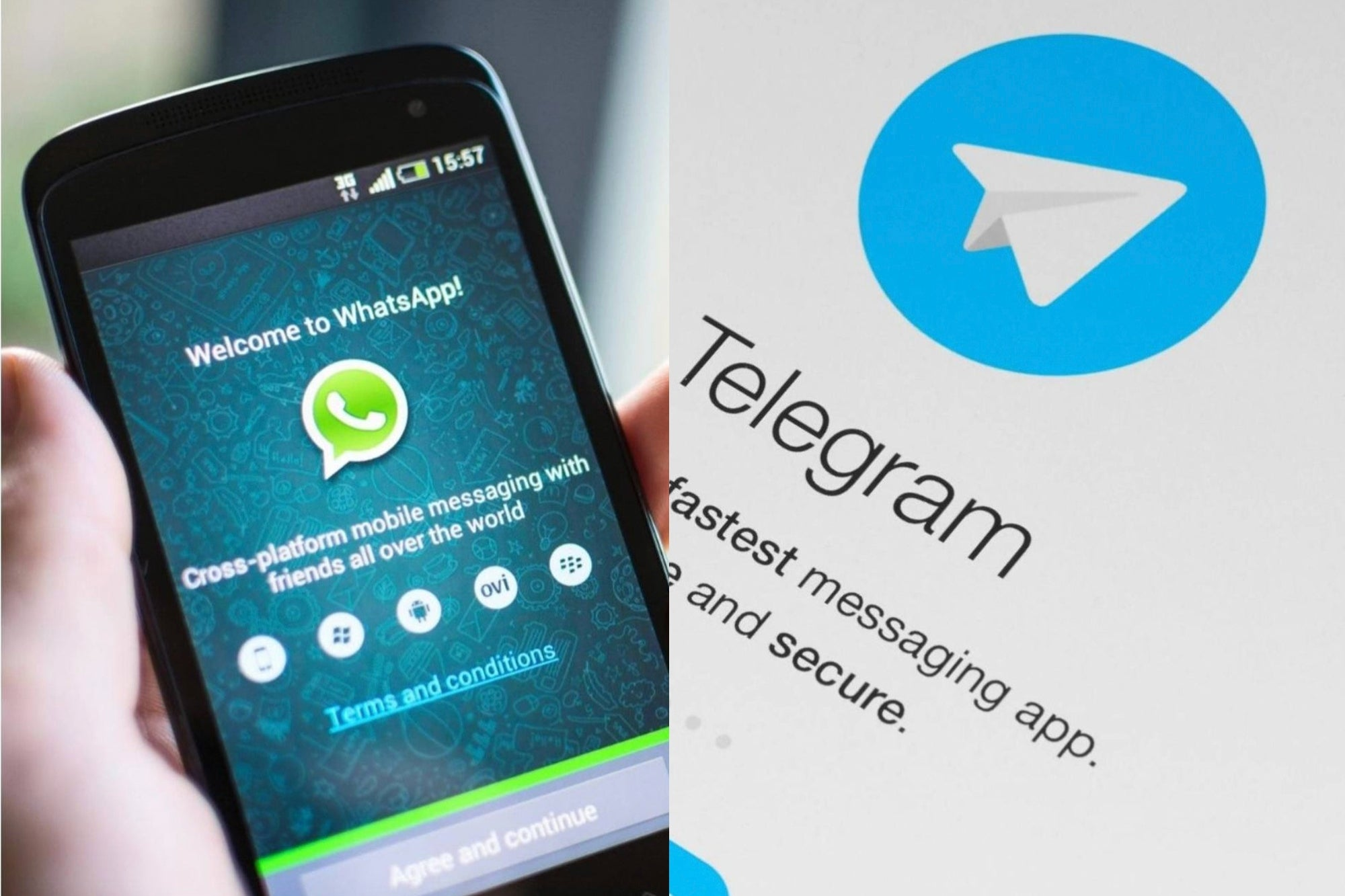 WhatsApp already allows you to increase the speed of audios and they remind you that Telegram did it before