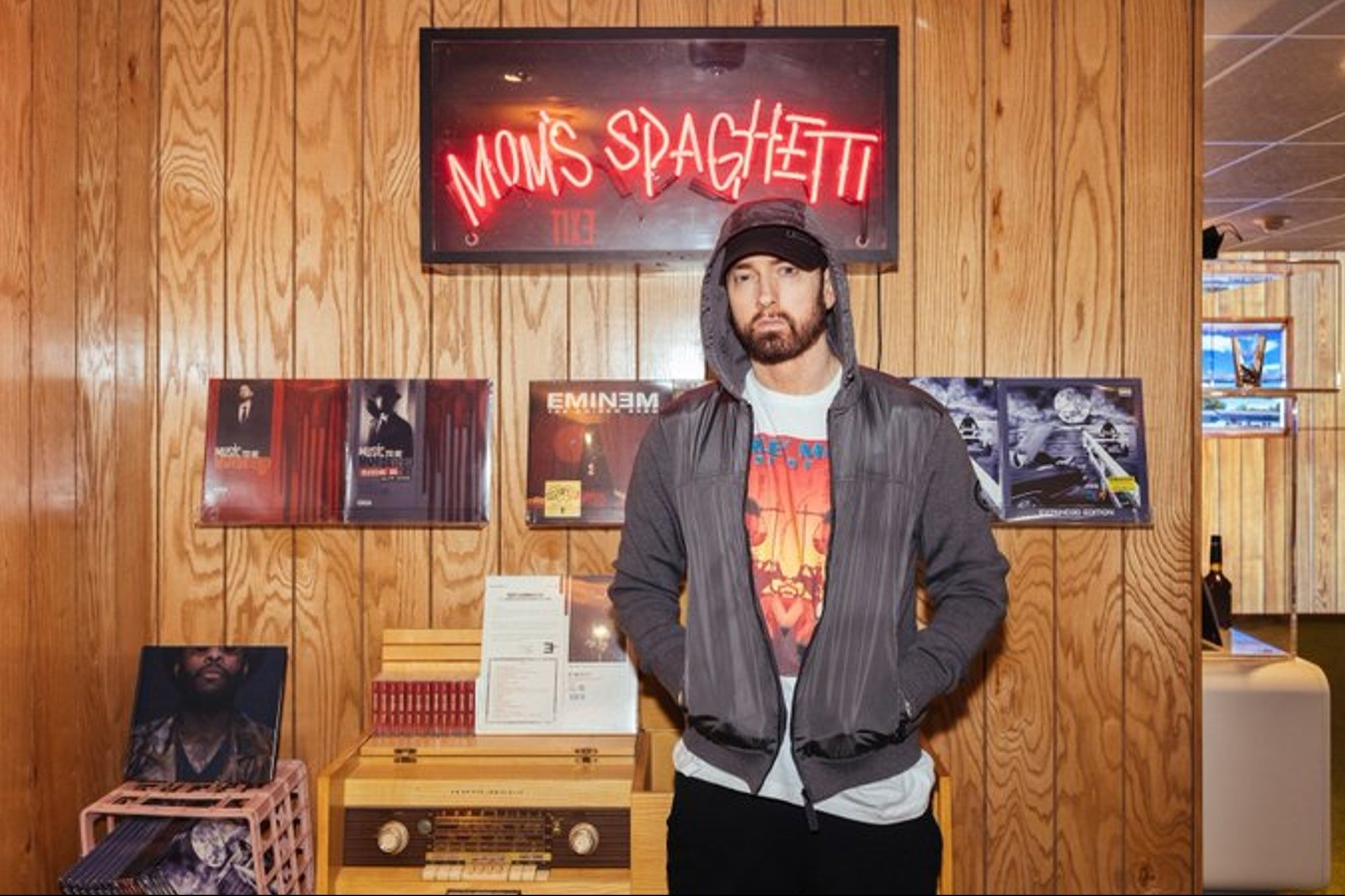 Guess who's back? Eminem went from rapper to entrepreneur and waiter at his own pasta restaurant