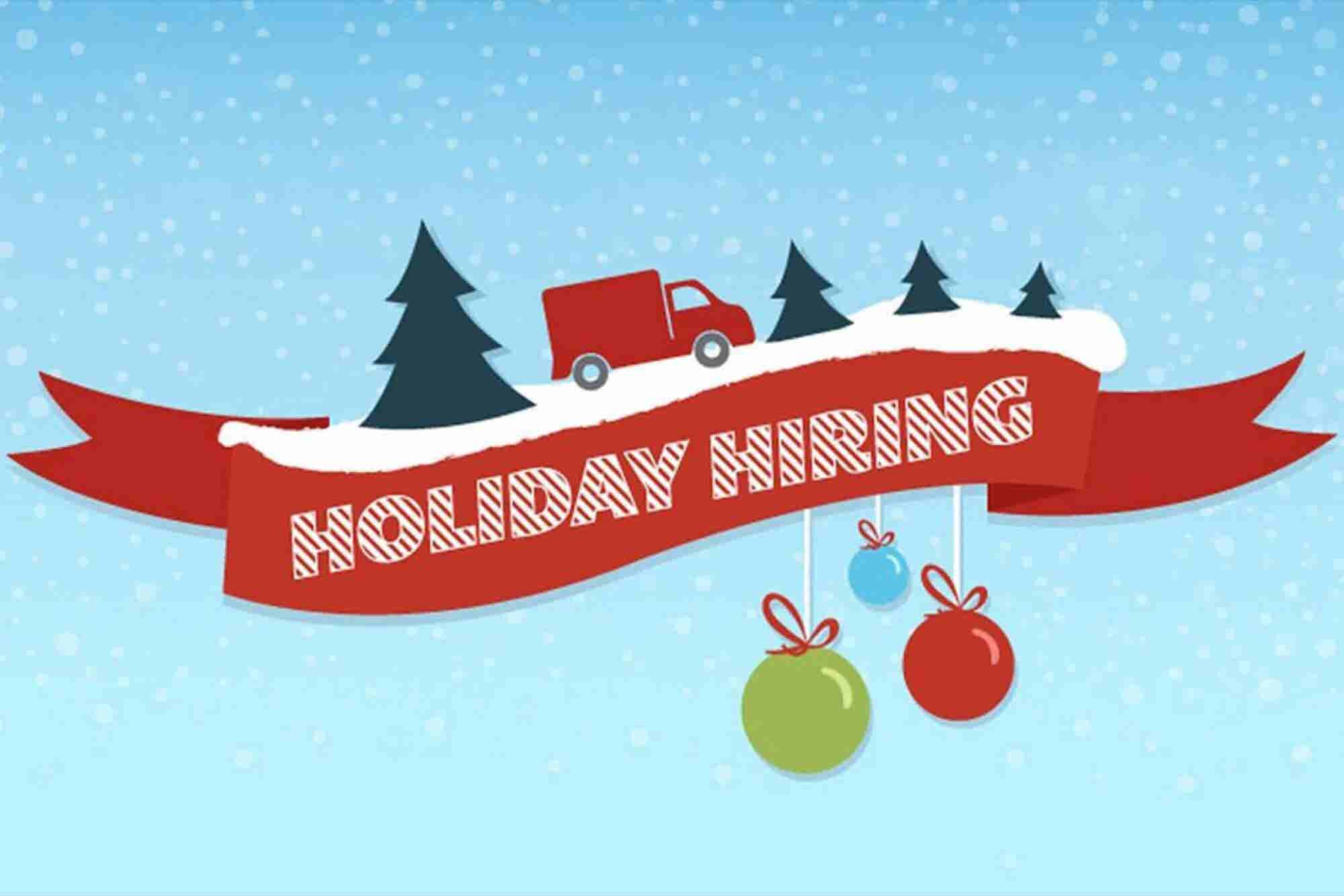 Holiday Hiring By the Numbers (Infographic)