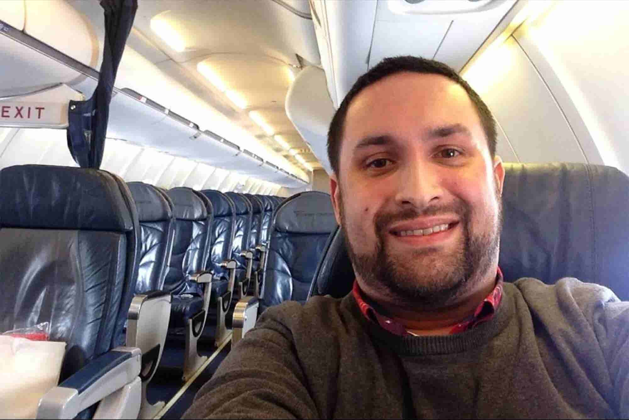 This Guy's Flight Is One He Won't Soon Forget