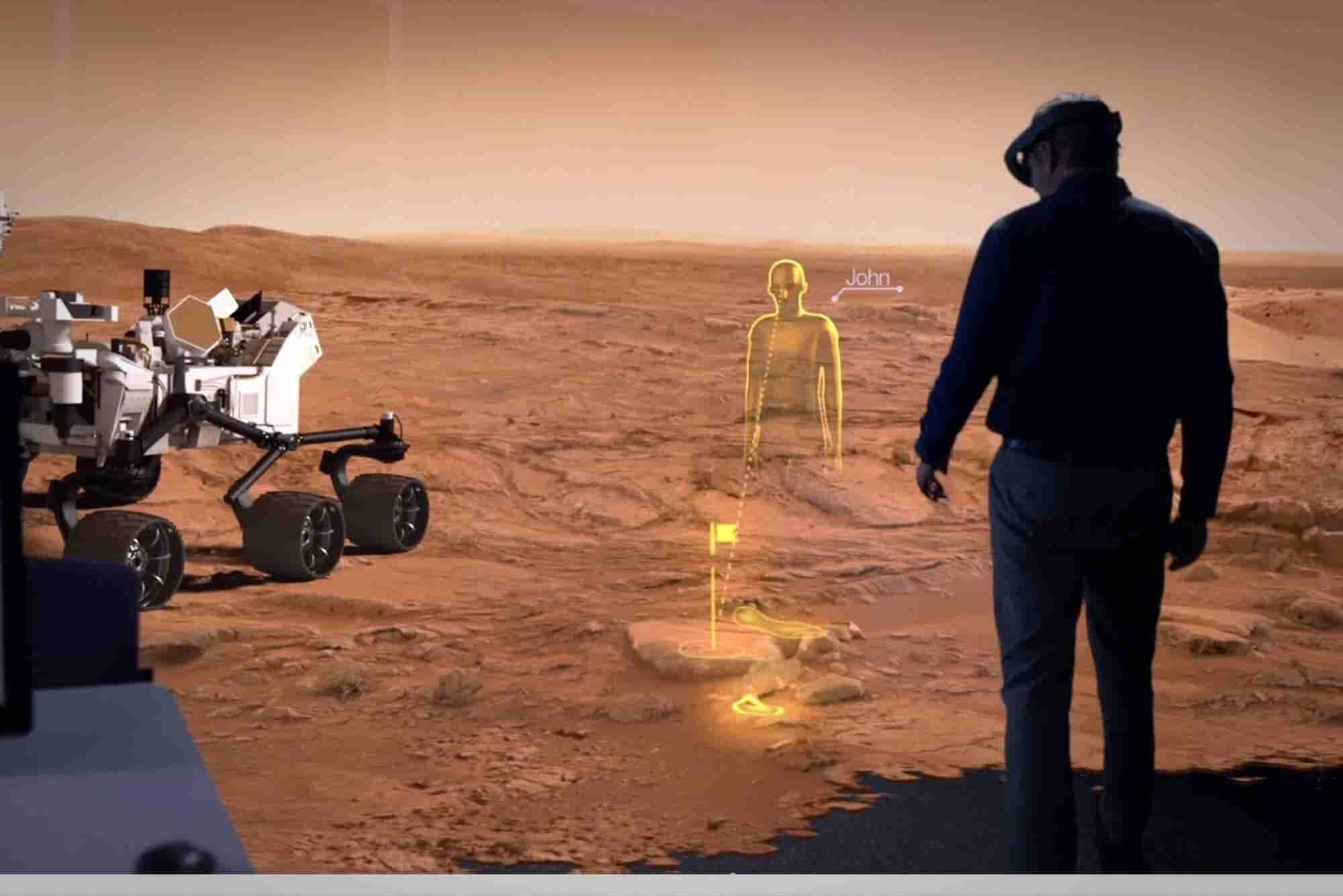 How Microsoft's HoloLens Could Boost the Race to Colonize Mars