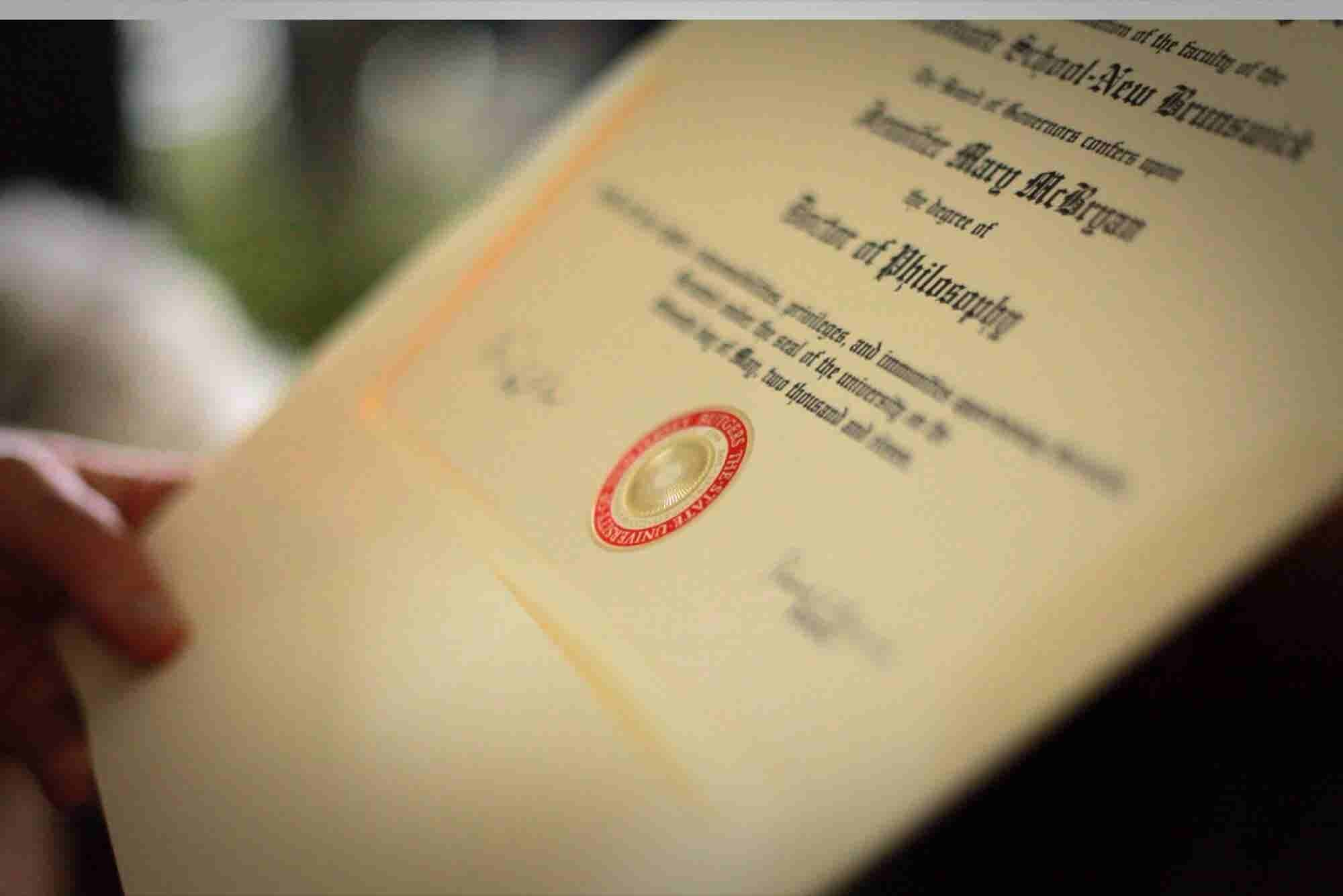 Does a College Diploma Make Someone Special?