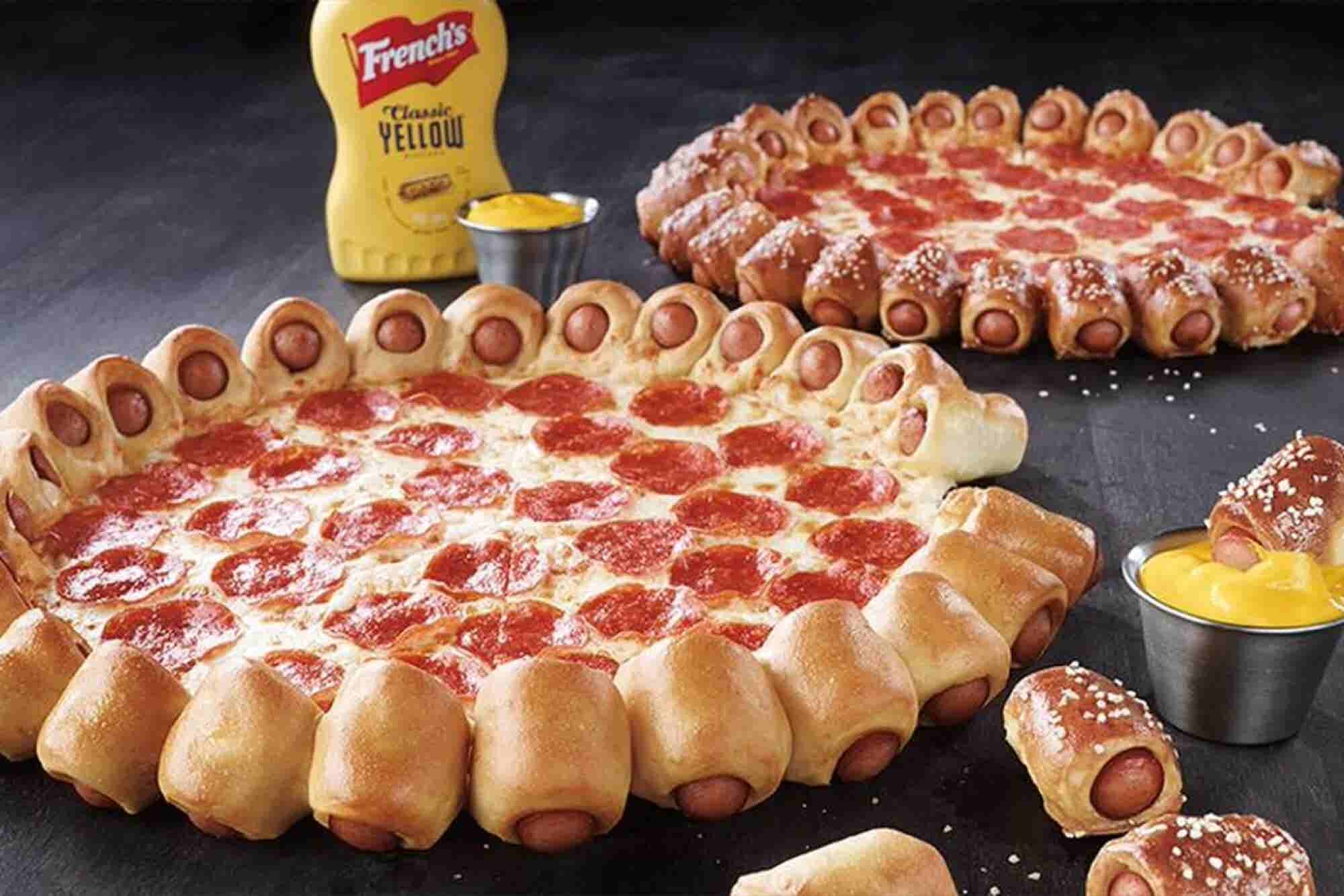 Pizza Hut's Latest Mashup: Hot-Dog Pizza Crust