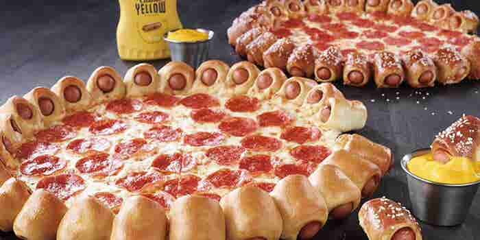 Pizza Hut's Latest Mashup: Hot-Dog Pizza Crust