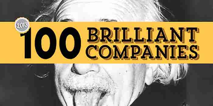 Entrepreneur's 100 Brilliant Companies -- 2013