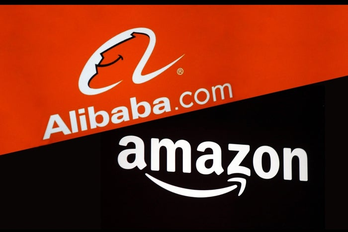By The Numbers Amazon Vs Alibaba Infographic