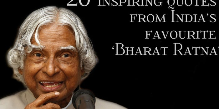 Indian Quotes Inspiration Dr APJ Abdul Kalam 48 Inspiring Quotes From India's Favourite