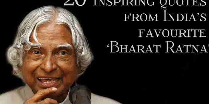 Dr APJ Abdul Kalam: 20 Inspiring quotes from India's favourite 'Bharat Ratna'