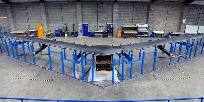 Behind the Scenes With Facebook's New Solar-Powered Internet Drone and Laser Technology