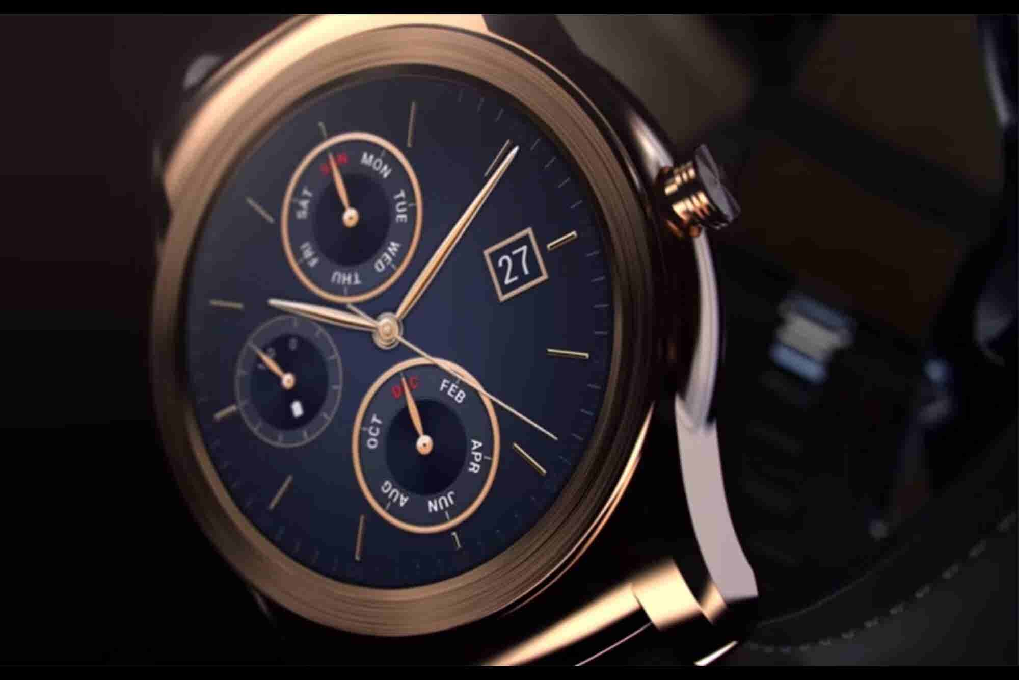 LG Just Rolled Out a $1,200 Gold Smartwatch