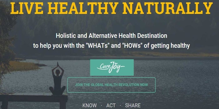 Think of natural health and wellness? Curejoy is what many refer to