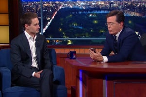 Stephen Colbert Lets the Crazy Questions Fly With Snapchat CEO Evan Spiegel (WATCH)